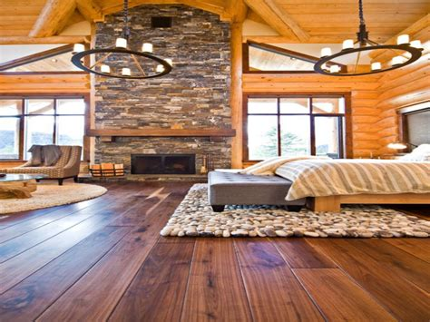 Rustic Log Home Master Bedroom Rustic Log Home Interior