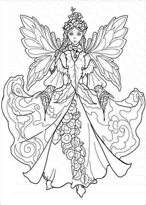 Adult Coloring Page Fairy Coloring Home