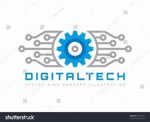 Digital Tech Vector Business Logo Template Stock Vector ...