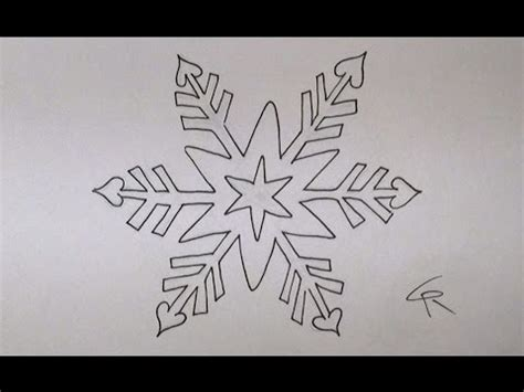 learn   draw  color  pretty snowflake part