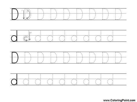 Letter D Tracing Worksheets For Preschoolers