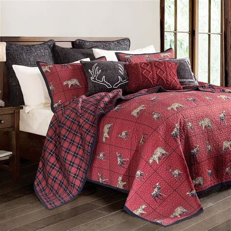 Woodland Plaid Quilt Set   Full/Queen