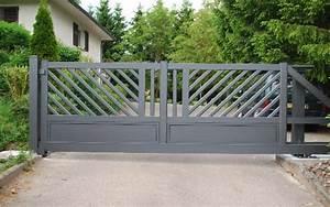 Modele De Portail Coulissant : portail alu les avantages du portail en aluminium tschoepp ~ Premium-room.com Idées de Décoration