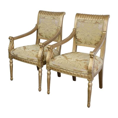 80 rustic gold upholstered arm accent chairs chairs