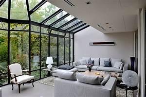 maison suresnes contemporain veranda et verriere With exceptional idee deco jardin contemporain 5 dilemme deco saloncuisine ouverte