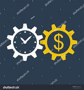 Time Money Income Growth Return On Stock Vector 236060179 ...