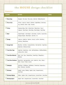 home design checklist home renovation checklist home building checklist by oliverink