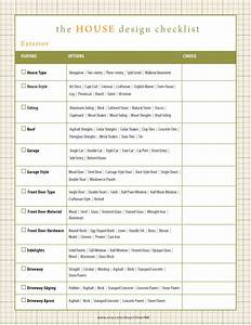 home design checklist with hundreds of options house With building directory template