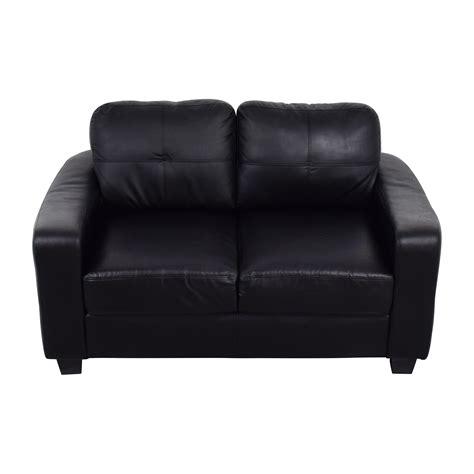black bonded leather loveseat sofas
