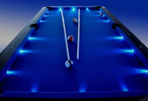 blue felt pool table 8ft pool snooker pub billiards table led superbrite ebay