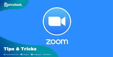 mengubah background zoom meetings pricebook