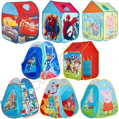 kids pop  play tents wendy house toy story pj masks