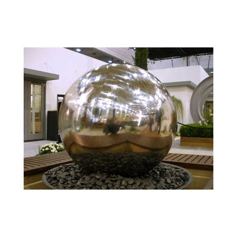 strobe light water fountain sphere water fountain 75 cm with led lights