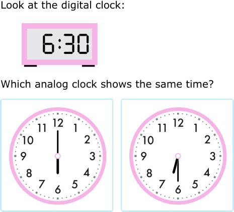 ixl match analog digital clocks st grade math