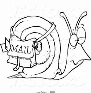Cartoon Vector Of Snail Mail - Free Coloring Books Via Mail
