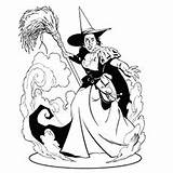 Wizard Witch Oz Coloring Pages Wicked East Dorothy Witches Printable Drawing Evil Toto Dog Getdrawings Halloween Toddler Munchkins Refueled sketch template