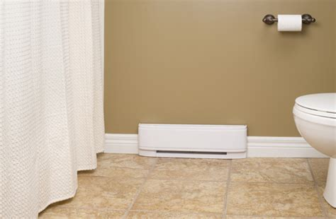 add some heat to your bathroom electric baseboard heating