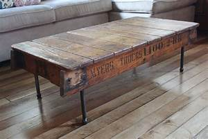 Trendy reclaimed wood coffee table design ideas with iron for Reclaimed teak wood coffee table