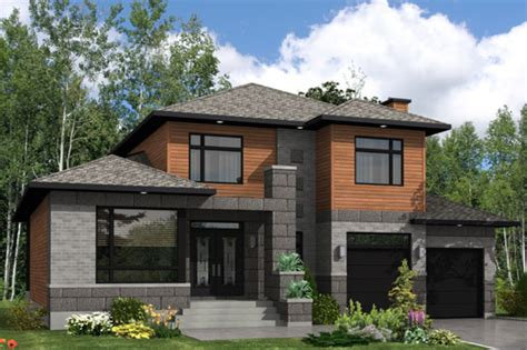 contemporary prairie style house plans small home one modern style house plan 3 beds 2 5 baths 2410 sq ft plan
