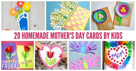 easy homemade mothers day card ideas  kids