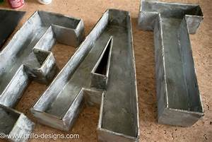 3d faux metal letters tutorial from cardboard With diy metal letters