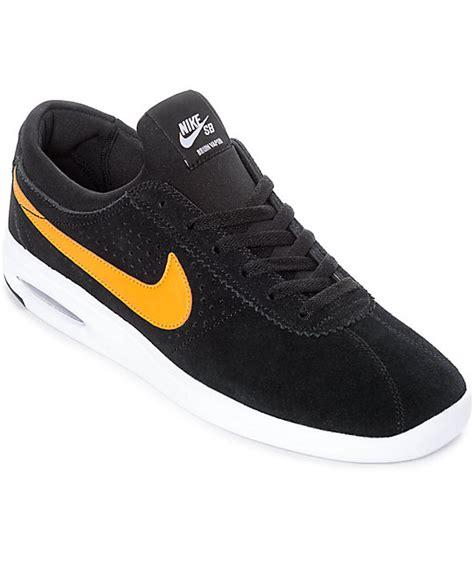 barato nike sb air max bruin vapor l zapatillas para hombres negro syjsafx nike sb bruin vapor air max all black orange skate shoes zumiez