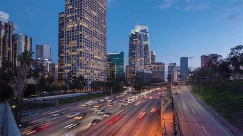 downtown la traffic timelapse  stock footage motion places