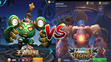 Jawhead Mobile Legends Vs Jawhead King Of Glory