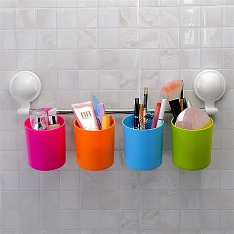 details  suction cup stuff organizer toothbrush