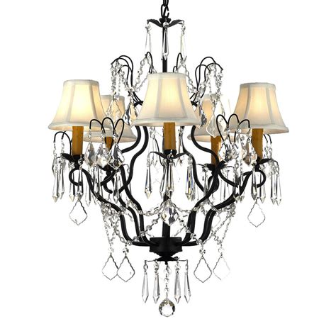 Lighting Chandeliers by Gallery Versailles Wrought Iron And 5 Light
