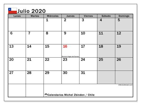 calendario julio chile michel zbinden es