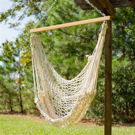 Pawley Hammock by Pawleys Single Cotton Rope Hammock Swing Dfohome