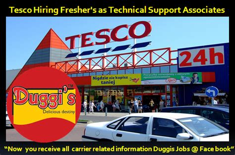 Tesco Hiring Freshers As Technical Support