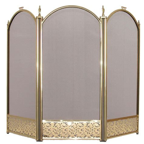 brass fireplace screens screen brass fireside fireplace safety guard folding