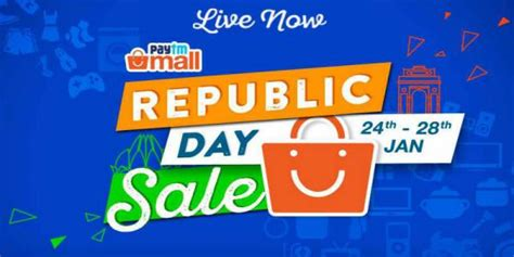 paytm mall republic day sale offers cashbacks and