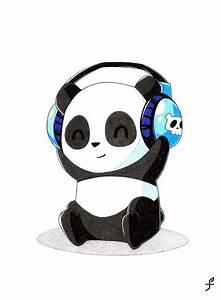 lustige und einfache zeichnungen panda mit den zuhörern