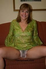 Wife wearing sheer underwear