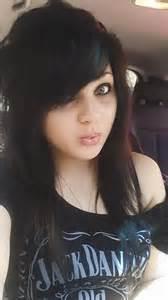Emo Girls with Black Hair Green Eyes