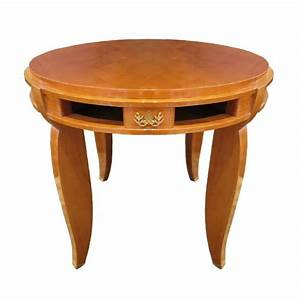 Jules Leleu Side Table In Sycamore For Sale At 1stdibs