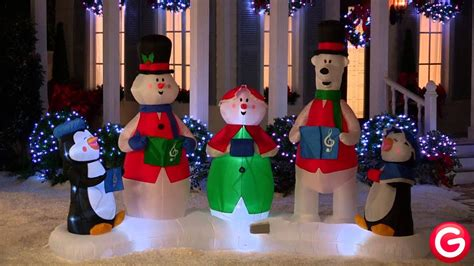 gemmy animated airblown inflatable christmas carolers