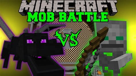 ender dragon  skeleton friend minecraft mob battles anti plant virus mods youtube