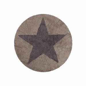 Tapis Rond Beige : tapis enfant rond gris beige etoile reversible lorena canals 140 cm ~ Teatrodelosmanantiales.com Idées de Décoration