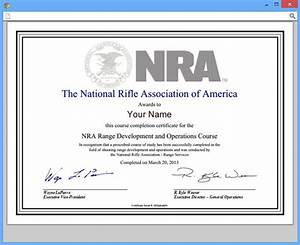 nratraining user guides how to get a certificate of With nra certificate template