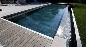 piscine enterree debordement With piscine miroir a debordement 10 piscine semi enterree piscines carre bleu