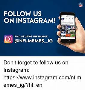 NFL FOLLOW US ON INSTAGRAM FIND US USING THE HANDLE IG Don ...