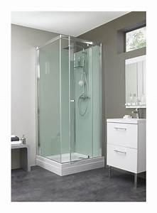cabine de douche eden carre portes coulissantes ou With porte de douche coulissante avec revetement de sol stratifié pour salle de bain