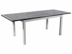 Table De Jardin Extensible : table de jardin alu extensible canaries 8 seychelles blanc 86531 86533 ~ Teatrodelosmanantiales.com Idées de Décoration