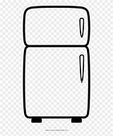 Refrigerator Fridge Coloring Template Pages sketch template