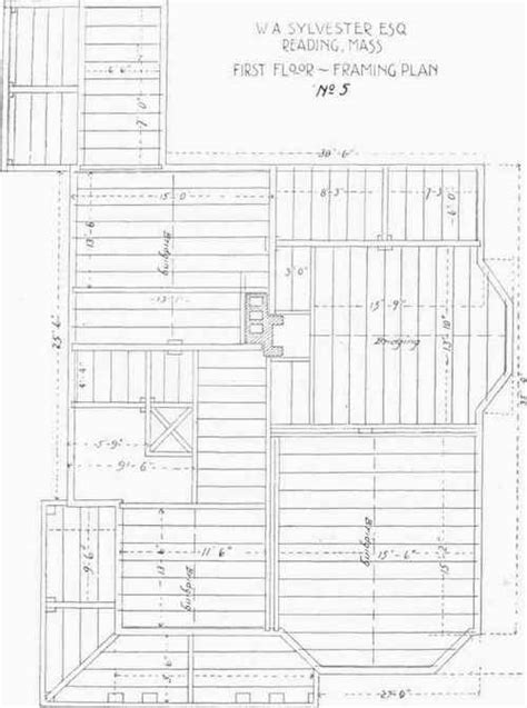 floor  framing plans    sylvesters house reading mass