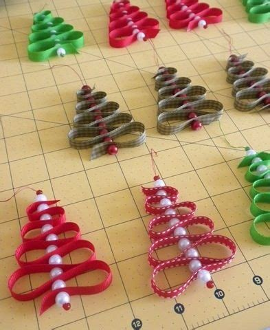 easy and fun to make ribbon and bead christmas ornaments